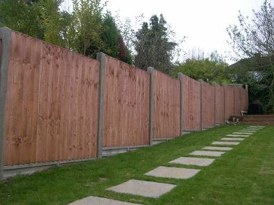 6ft Closeboard using Concrete posts and Gravel Boards
